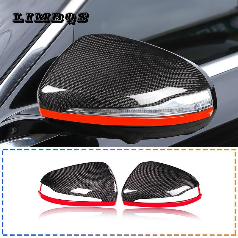 Garniture de couvercle de rétroviseur latéral de voiture pour LHD W205 W213 X253 W222 Mercedes Benz C E GLC S classe fabriquée en vraie Fiber de carbone