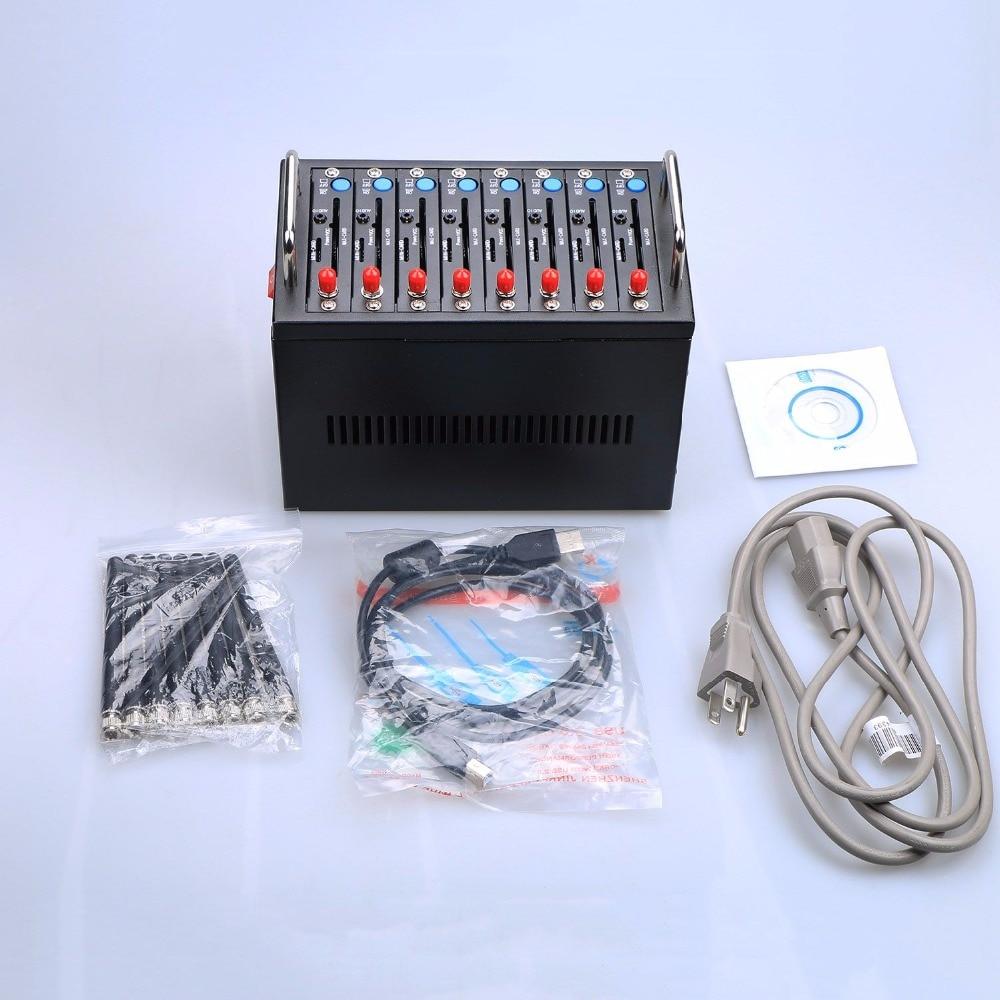 GSM Modem Pool 8 ports for Wavecom Q2303 Module USB AT Commands 900/1800 MHz 4 ports gsm modem usb interface wavecom module q2303