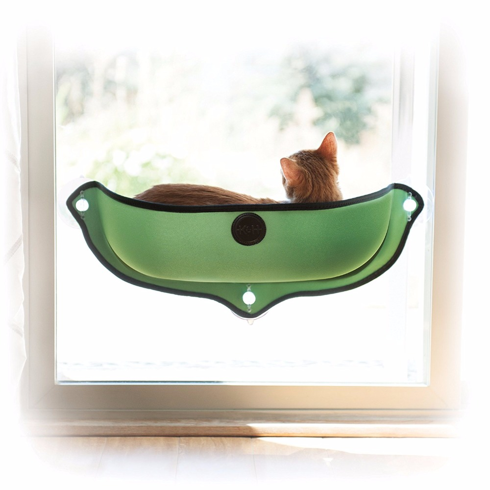 Hanging bed nest - 2017 New Funny Cat Window Bed Mounted Cat Bed Hammock Mat Cat Lounger Perch Cushion Hanging