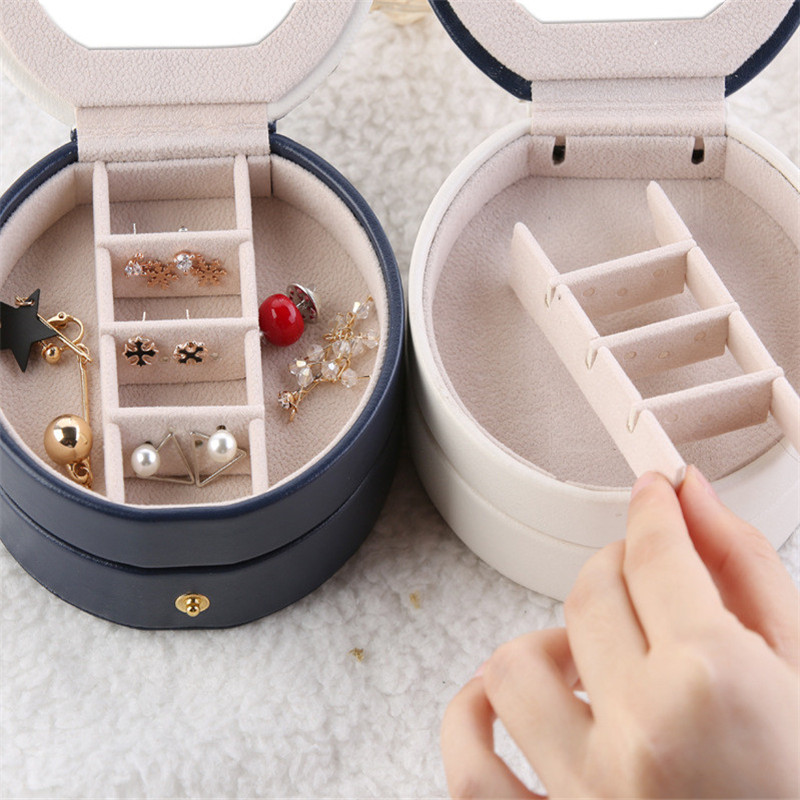 jewelry storage box organizerTravel organizador Women Leather Rectangle Packaging Necklace Rings Earrings Storage Organizer in Storage Boxes Bins from Home Garden