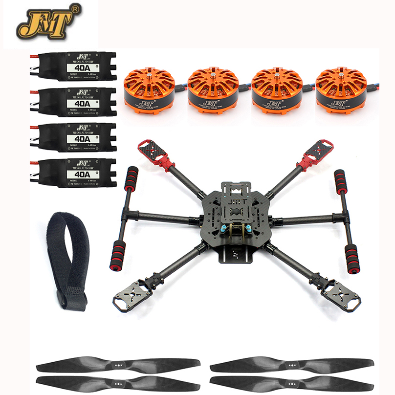 JMT DIY X4 560mm Carbon Fiber Frame Kit Foldable / Foldable Landing Gear 3508 580KV Motor 40A ESC 1455 Propellers RC Quadcopter jmt j510 510mm carbon fiber 4 axis foldable rack frame kit with high tripod for diy helicopter rc airplane aircraft spare parts