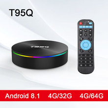 T95Q ТВ коробка Android 8,1 4 ГБ 32 ГБ 4gb64гб Amlogic S905X2 четырехъядерный 2,4/5,8 Г Wifi BT4.1 1000 м 4 к Медиаплеер Smart tv box PK T9