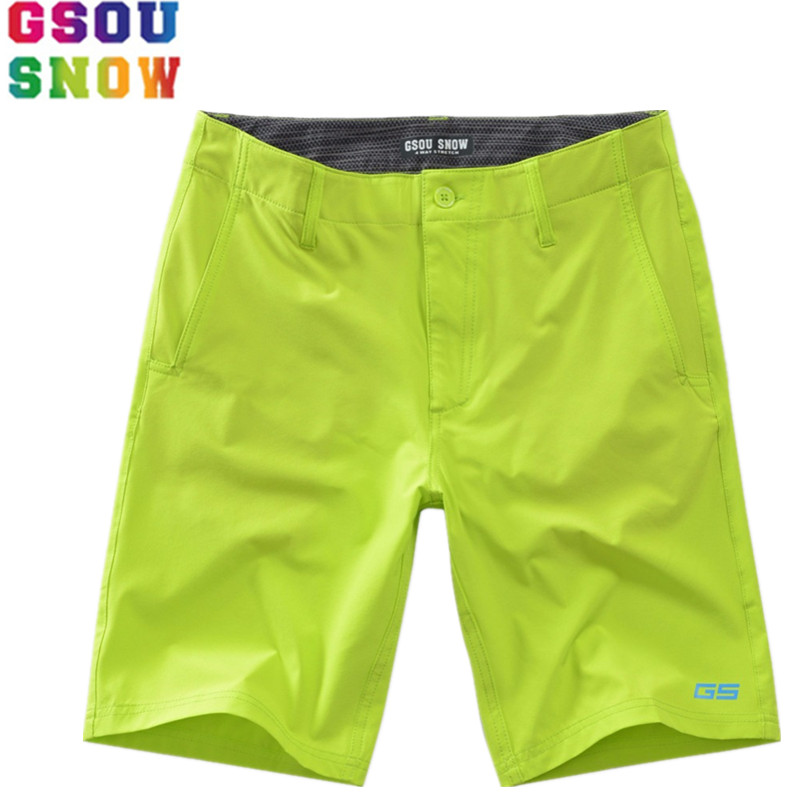 Gsou Snow Brand Men Beach Shorts Board Shorts Quick Drying Surfing Swimming Swimwear Mens Fitness Jogger Gym Sweatpants
