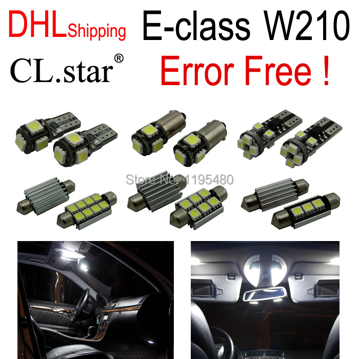21pc X Error free LED Bulb Interior Light Kit For Mercedes for Mercedes-Benz E class W210 Sedan (1995-2001) with DHL shipping 10pcs error free led lamp interior light kit for mercedes for mercedes benz m class w163 ml320 ml350 ml430 ml500 ml55 amg 98 05