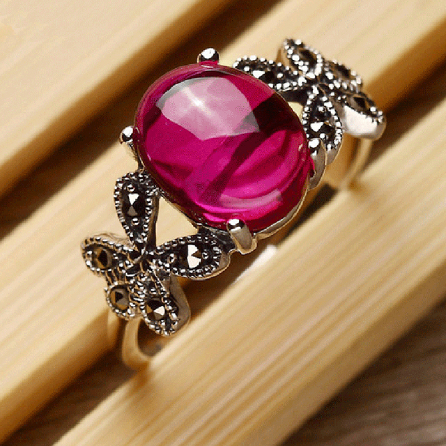 Real Solid 925 Sterling Silver Ring For Women Butterfly