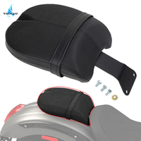 Motorcycle Passenger Rear Solo Seat Cushion Pad For Victory Octane 2017 Leather Saddle Pad Black Motorbike Accessory WISENGEAR /