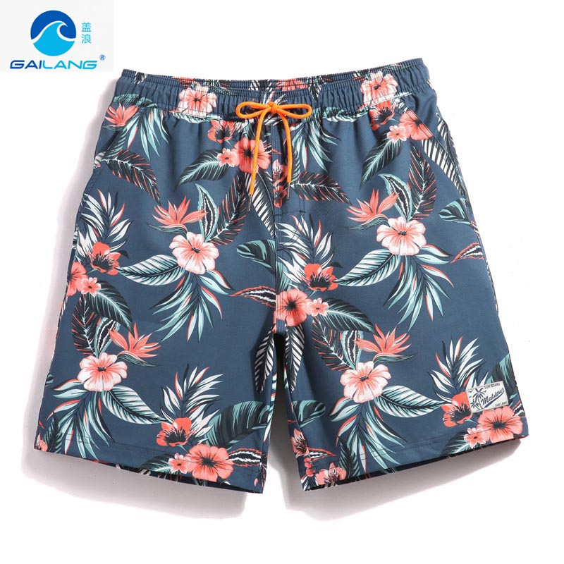 Couple's swimming trunks   board     shorts   quick dry surfing hawaiian bermudas joggers swimwear printed liner briefs mesh