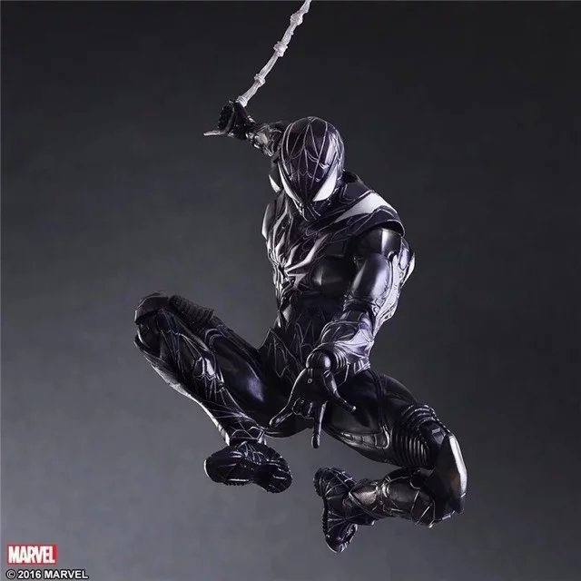 Play Arts PA Marvel Super Hero Blue Spiderman Action Figure Toy Limited Ver Doll Collection 10 25cm