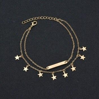 MissCyCy Boho Style Star Anklet Fashion Multilayer Foot Chain Ankle Bracelet 2