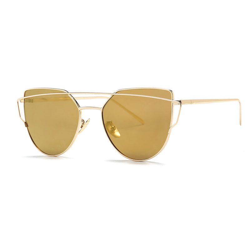 Double Beam Metal Frame Sunglasses Women Luxury Clear Lens Glasses UV400 Eyeglasses for Men Goggles Gafas Oculos Shades 808DF 1