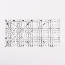 Получить скидку Патч правителя отрезное правило инструменты рисования правитель 30x15cm1 PC Прозрачный квилтинга акриловые лоскутное выровнены правитель сетки резки