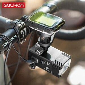 Image 3 - GACIRON 500/800 ルーメン自転車ライト 200 メートルバイクフロントライト USB 充電式懐中電灯防水ヘッドライトサイクリングアクセサリー