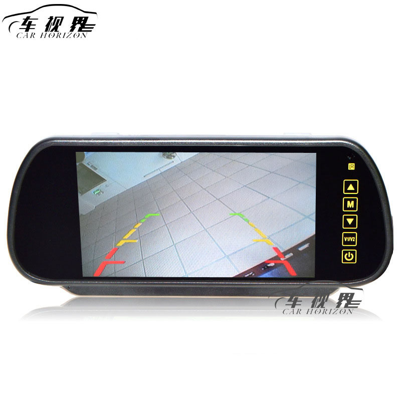 High Quality 7 Inch LCD Touch Vehicle Rearview Car Mirror Monitor Display Back A Car First Can Connect Vehicle DVD Camera waterproof vehicle car rearview camera ntsc