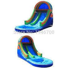 цена на 2016 Best quality inflatable slide with pool/ commercial inflatable pool slide for kids and adults