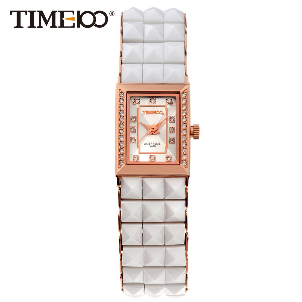 Time100 Fashion Women's Ceramic Watches Quartz Watch Diamond Dial Ladies Casual Bracelet Watches For Women relogios feminino time100 fashion women s watches simulated ceramic diamond ladies quartz watch dress casual bracelet watches relogios femininos
