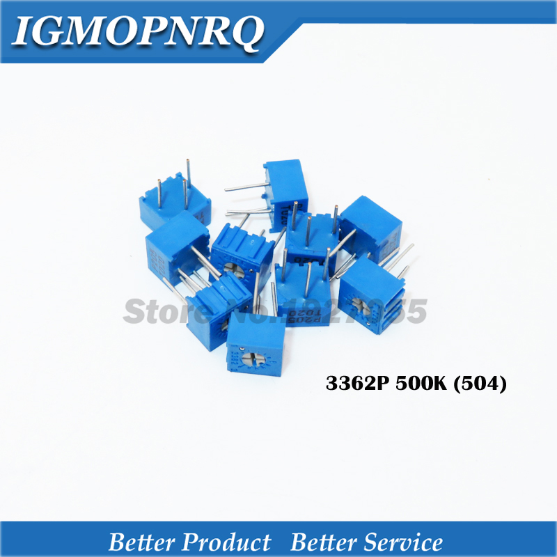 10Pcs/Lot 3362P-1-504LF 3362P 504 500K <font><b>ohm</b></font> Trimpot Trimmer Potentiometer Variable <font><b>resistor</b></font> new original image