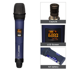 Image 2 - Freeboss FB U322 2 way multi freqüência de metal handheld transmissor câmera microfone festa karaoke microfone sem fio