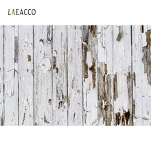 Laeacco White Grunge Wooden Board Food Cake Portrait Photography Backgrounds Customized Photographic Backdrops for Photo Studio
