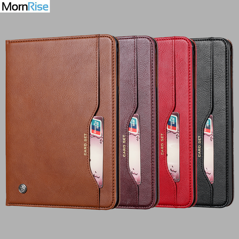 Luxury Vintage Suede Leather Smart Cover For iPad 6th Generation Air 2 Case Wallet Card Stand Magnetic Book Classic Flip Case