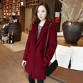 2017 Fashion Women Woolen Coat Autumn Winter Casual Solid Outwear Laple Long Sleeve Single Button Pockets Jackets Cardigan