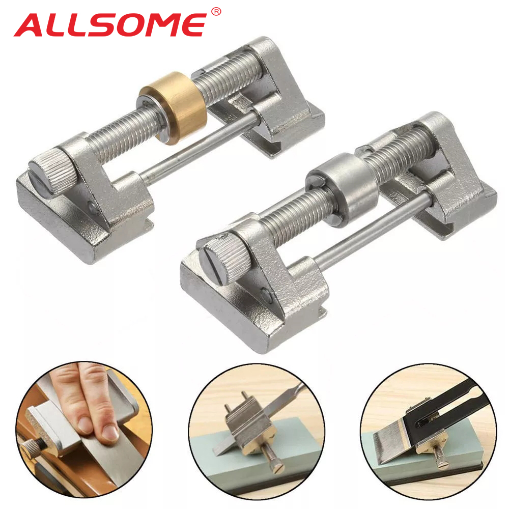 ALLSOME Honing Guide Roller Knife Sharpener Clamping 8-80mm For Wood Chisel Plane Graver Edge Sharpening HT1641-1642
