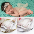 Fashion Newborn Crystal Crown Headbands For Photograph Sequined Baby Headwear Toddler Boy Girl Elastic Hairbands Accessories