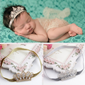 Recién Nacido de moda Crystal Crown Vendas Para Fotografía de Lentejuelas Bebé Headwear Niño Niño Niña Elástico Hairbands Accesorios