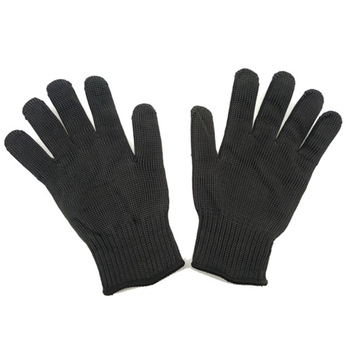 ZK20 Dropshipping 1 Pair Black Working Safety Gloves Cut Resistant Protective Stainless Steel Wire Butcher