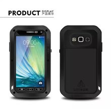 A3 Shockproof Waterproof Metal Case For Samsung galaxy A300 A500 A700 With Gorilla Glass Aluminum Cover For a3 a5 a7 a9