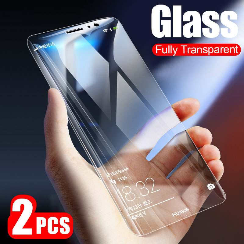 2PCS Full Cover Tempered Glass For Huawei P20 P10 P9 Lite Plus P20 Pro Screen Protector For Huawei P Smart Mate 20 10 Lite Glass