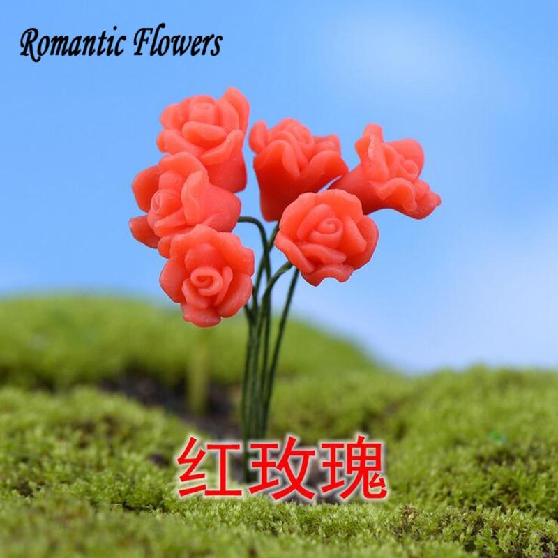 10 шт. семь видов Моделирование цветы, украшения сада/Калла Лили/тюльпан сборка мебели из маленькие украшения