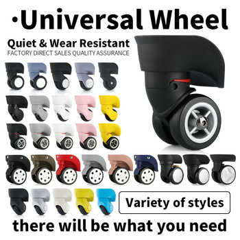 Suitcase Replacement wheel repair suitcase caster universal rolling luggage accessories Bag caster Colored mute luggage wheels - DISCOUNT ITEM  8% OFF All Category