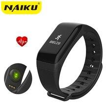 Naiku Фитнес Tracker браслет Heart Rate Мониторы Smart Band F1 SmartBand Приборы для измерения артериального давления с Шагомер Браслет