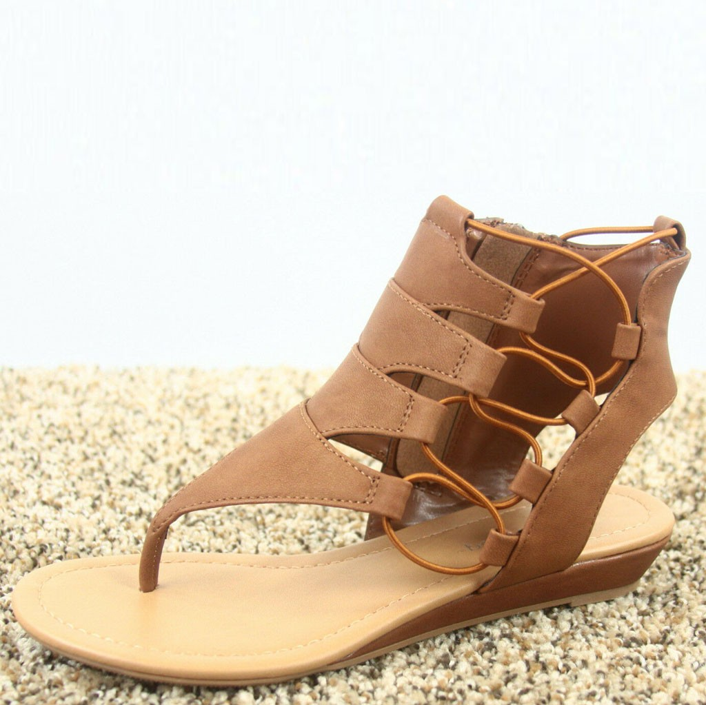 Womens Strappy Ankle Zip Heel Low Wedges Sandals Hollow Casual Shoes  Open Toe Sandalias Mujer Summer Shoes Platform SandalsWomens Strappy Ankle Zip Heel Low Wedges Sandals Hollow Casual Shoes  Open Toe Sandalias Mujer Summer Shoes Platform Sandals