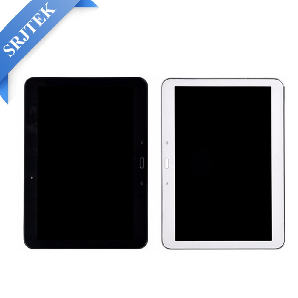 Srjtek NEW Original For Samsung Galaxy Tab 4 T530 T531 T535 LCD Display Panel Touch Screen Digitizer Assembly Frame brand new i9505 lcd screen display for samsung galaxy s4 i9500 i9505 i337 i545 lcd with touch digitizer glass panel frame