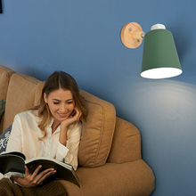 Sconce Wall Light Wooden Modern Style Macaron LED Lights for Bedroom Bedside Restaurant 1pack/2pcs Included Bulb