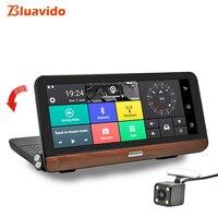 Bluavido 8 inch 4G Android Car DVR Camera GPS Full HD 1080P Dash Cam Navigation ADAS Dual Lens car video recorder Remote Monitor