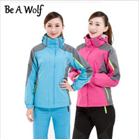 Be A Wolf Hiking Jacket Women Fishing Outdoor Camping Waterproof Heated Winter Clothing Rain Skiing Windbreaker