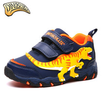 Dinoskulls Kid Shoes Kids Boys Dinosaur Sneakers Toddler Cartoon Shoes Boys Loafers Children's Sneakers 27-34