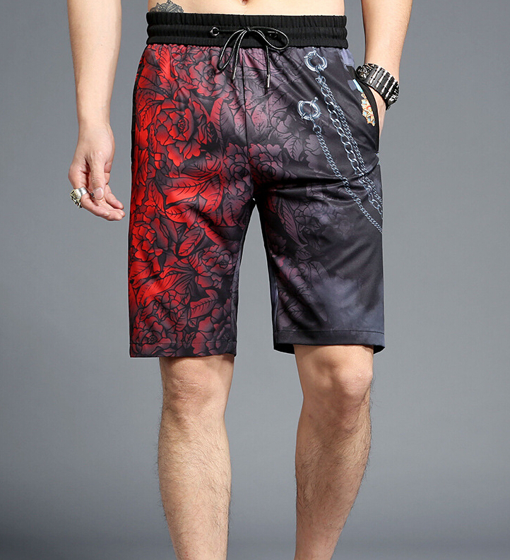 Casual printing Summer loose design Mens Shorts Cotton 2018 R951 ...
