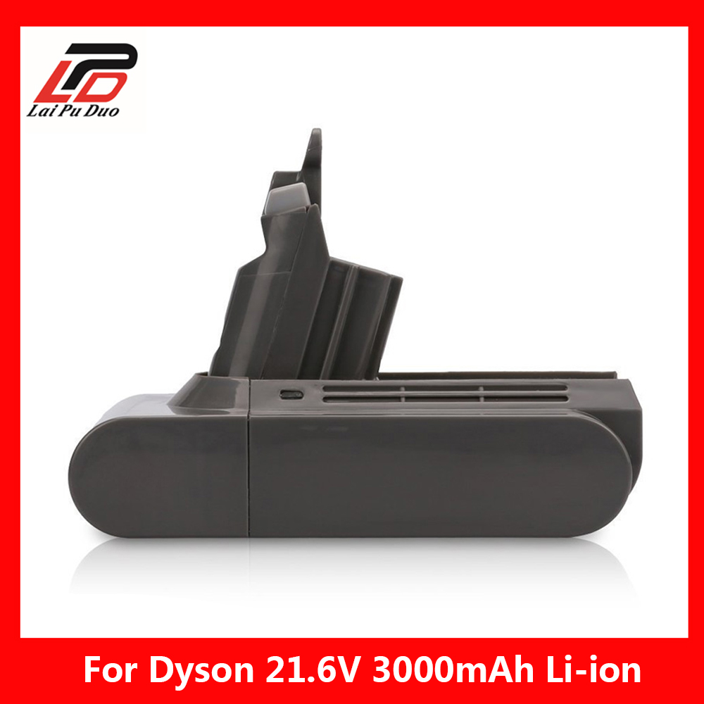 V6 3000mAh 21 6v Li ion Replacement Battery for Dyson Li ion Vacuum Cleaner DC58 DC61