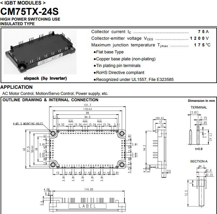 Free shipping NEW CM75TX-24S MODULE free shipping new module