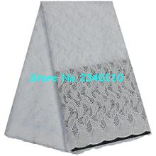 2017 African Cotton Voile Lace Fabric High Quality Nigerian Swiss Voile Lace Material Latest African Swiss Dry Lace For white