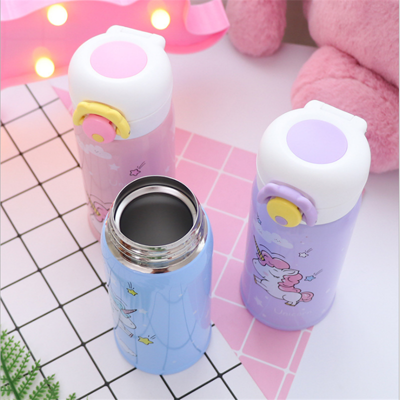 350ml and 500ml Thermal Flask and Unicorn Mug with Strainer for Warm Milk and Water 4