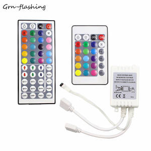 RGB LED Controller 24 key  44 Key Dual Output Port Connectors DC12V IR Remote Controller for 5050 35282835 RGB led strip light