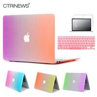 For Mac Laptop Bag Rainbow Colorful Case For Coque Macbook Pro Retina 13 Case Matte Plastic