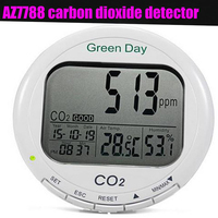 AZ7788 термометр гигрометр Измеритель влажности co2 детектор CO2 анализатор газоанализатор детектор газа CO2 метр