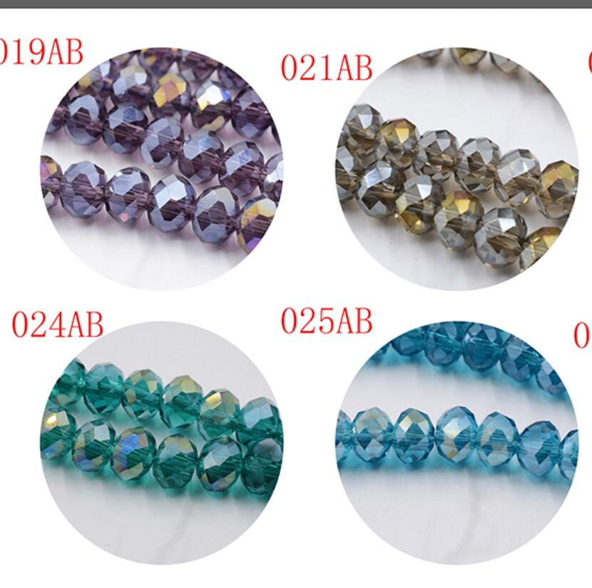 Beads 145pcs 4mm Crystal Rondelle Glass Beads Diy Jewellery Making For Bracelet Necklace Center Drilled 18 Color