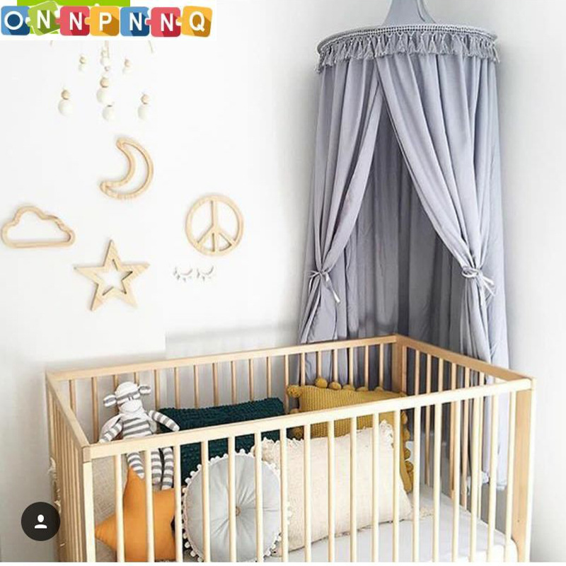 White/Grey/Pink Princess Canopy Bed Curtains Hanging Dome DIY Play Tent Teepee for Kids Indoor Girls Play House for Chidlren outdoor double layer 10 14 persons camping holiday arbor tent sun canopy canopy tent