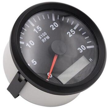 Tacómetro de 85mm de 3000 RPM con medidor de hora camión coche barco diésel motor Tacho rpm medidor contador REV con retroiluminación tacometro